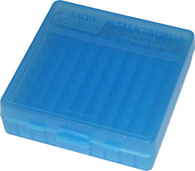AU9.95 • Buy MTM Case Gard 9mm 100 Round Ammo Box Clear Blue P-100-9-24