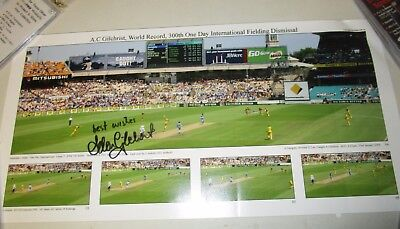 AU150 • Buy Adam Gilchrist (Australia) Signed 300th Wicket ODI Photo/Print (510/260)