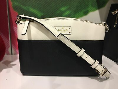 $ CDN104.60 • Buy Kate Spade Millie Grove Street Leather Crossbody Black&cemn Shoulder Handbag Bag