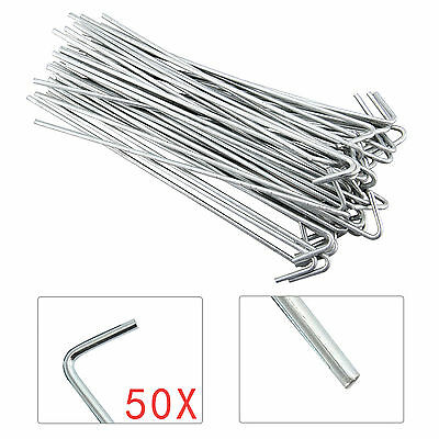 £7.29 • Buy 50 X Heavy Duty Galvanised Steel Tent Pegs Metal Camping Ground Sheet Anchor