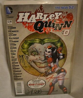 $ CDN48.37 • Buy Harley Quinn #0 2013 Signed By Amanda Conner Palmiotti & Roux DC New 52 Batman