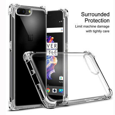 AU2.61 • Buy For OnePlus 5T/5 Shockproof 360° Clear Back Silicone Soft TPU Case Cover