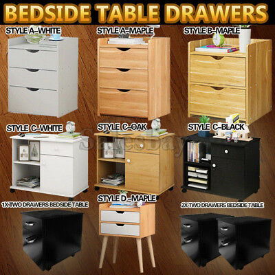 AU94.04 • Buy Bedside Table Drawers Tables Nightstand Unit Cabinet Storage Lamp Side Table