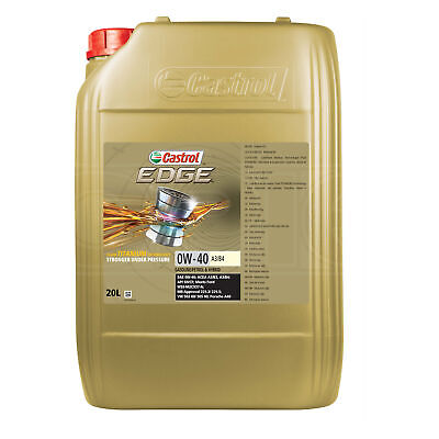 Castrol EDGE Titanium 0W-40 0W40 FST A3/B4 Synthetic Car Engine Oil - 20 Litre • 196.95£