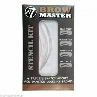 W7 Brow Master Eyebrow Stencil Kit Shaping Defining 4 Arch Make Up Templates • 1.95£
