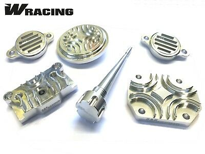 YX140 CNC ENGINE DRESS UP KIT W Racing  CW Bikes Pitbike Wpb Dirt SILVER • 29.99£