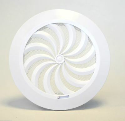 Circle Air Vent Grille 100mm 4  With Shutter Round Ducting Ventilation Cover T95 • 3.89£