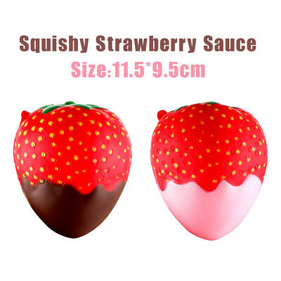AU6.69 • Buy 11.5 Cm Strawberry Scented Squishy Slow Rising Squeeze Toys Jumbo Collection