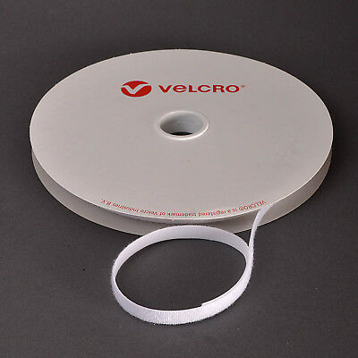 VELCRO® Brand ONE-WRAP® 10mm Cable Tie White Double Sided Hook / Loop Strapping • 0.99£