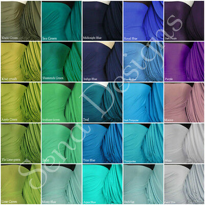 Plain Viscose Jersey Stretch Lycra Fabric Cotton Material RM300 Free P&P • 5£