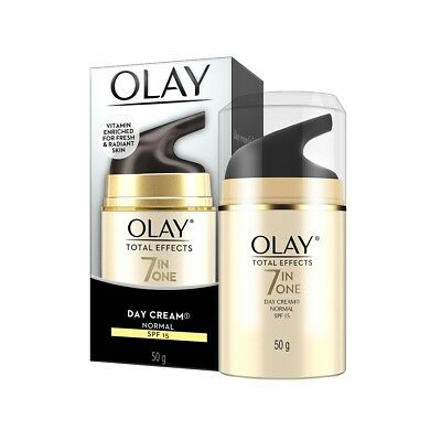 AU20.85 • Buy Olay Total Effects 7 In One Day Cream Normal Spf 15 50g No Wrinkles Anti-ageing