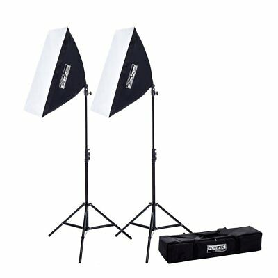 Fovitec 2 X 850w Photography Video Softbox Studio Lighting Kit Youtube Blogging • 79.95£