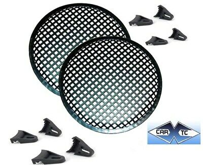 2 8 Inch Speaker Grills Sub Woofer Grille Covers Guard Metal Waffle Style • 5.93£