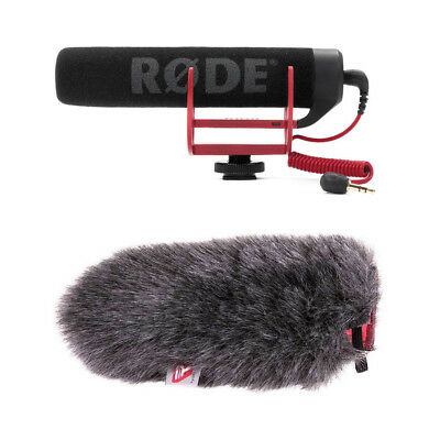 Rode VideoMic GO Lightweight On-Camera Mic With Rycote 055455 Mini Windjammer • 82.25£