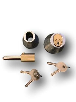 Roller Shutter Bullet Locks Oval And Housings (1 Pair With 4 Keys) Free Postage • 19£