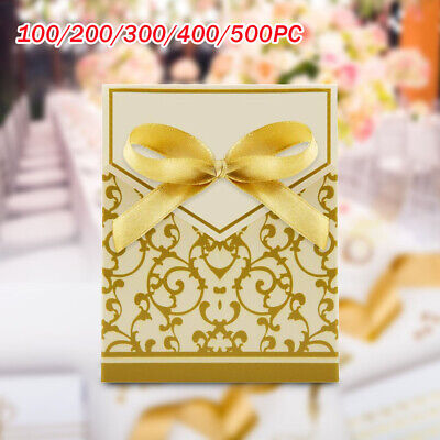 £8.19 • Buy 100-500pc Wedding Favour Favor Sweet Cake Gift Candy Boxes Bag Anniversary Party