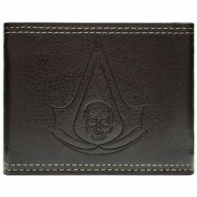 New Official Awesome Assassins Creed Black Flag Brown Snap Bi-fold Wallet • 16.49£
