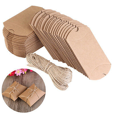 £5.99 • Buy 200X Wedding Favor Box Cute Craft Paper Pillow Party Favour Gift Cake Candy Bag
