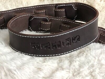 $ CDN58.39 • Buy Personalized  Custom Quality Leather Guitar Strap With Name Adjustable NEW