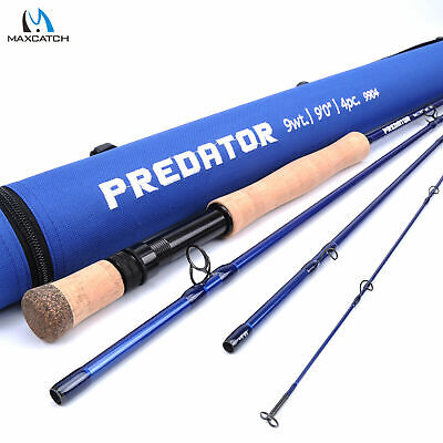 $ CDN210.40 • Buy Maxcatch Saltwater Fly Fishing Rod 8/9/10//11/12wt 9ft Graphite IM10 Fast Action