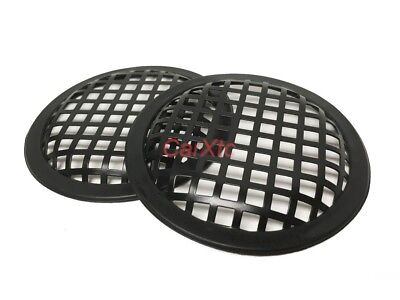 (2) 6.5  Inch  Waffle Metal Speaker Grilles :: Subwoofer Protection SBW-6.5 • 8.97£