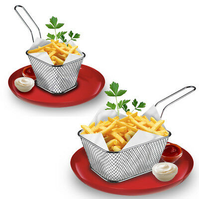 Snacks Chip Food Serving Baskets French Fries Crisps Dish Party Restaurant Style • 8.99£