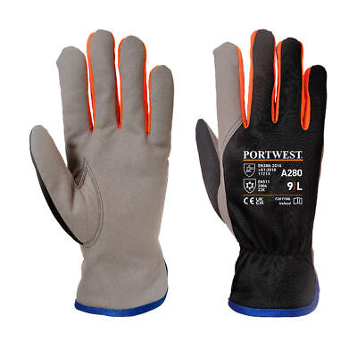 £3.99 • Buy Portwest A280 Wintershield Fleece Lined Thermal Warm Gloves EN511 Cold Protect