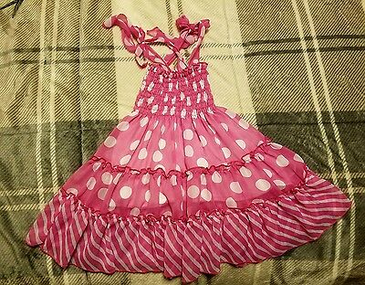 Cute Polka Dot Pink & White Sun Dress By Le Le For Kids Bought Off Of Zulilly 3T • 5.79£