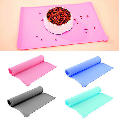 Puppy Dog Silicone Placemat Pet Cat Dish Bowl Feeding Food Water Mat Clean New • 7.69£