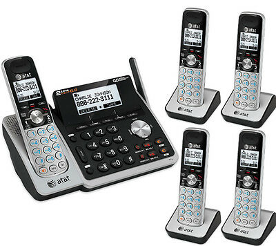 $ CDN293.29 • Buy AT&T DECT 2-Line Answering Machine System 5 Cordless Phone Set TL88102 4 88002