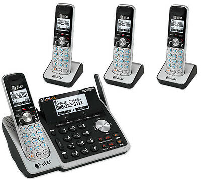 $ CDN258.62 • Buy AT&T 2-Line Answering Machine System 4 Cordless Phone Handset TL88102 3 88002