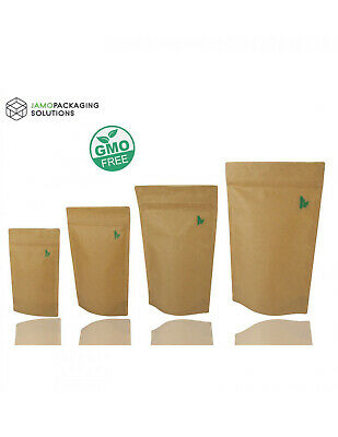Fully Biodegradable BIO STAND UP SEALABLE POUCH GRIP WITH GRIP SEAL • 3.29£