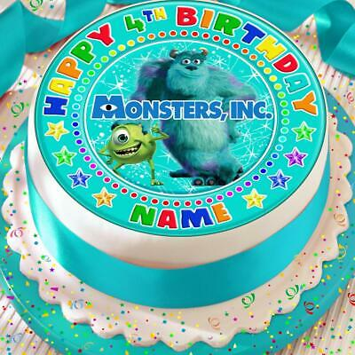 Monsters Inc Birthday Personalised 7.5 Inch Precut Edible Cake Topper A115k • 4.99£