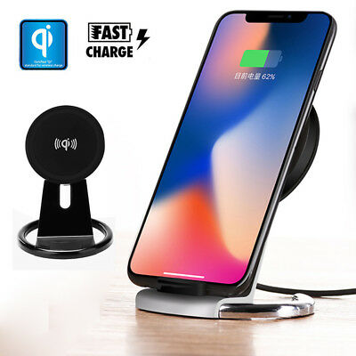 $ CDN10.64 • Buy For IPhone X 6/8 Plus S9 S8 Note8 Wireless Charger Pad Qi Fast Charger Stand Pad