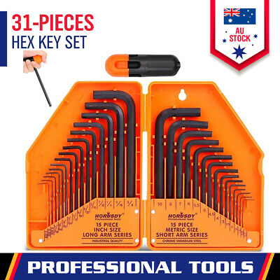 AU17.98 • Buy 30Pc Allen Key Set Metric & Imperial Combination Hex Wrench Keys With Case Tool