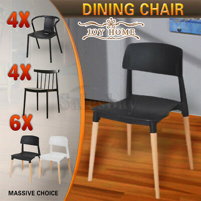 AU169.99 • Buy 4X 6X Stackable Chairs Belloch Replica Dining Chair Designer Cafe Bar Kitchen