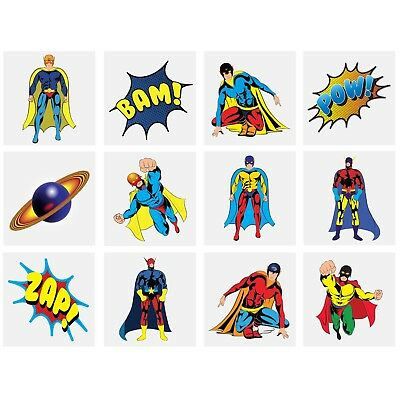 £1.39 • Buy Childrens Tattoos Super Heroes - Party Bag Fillers - Boys Girls Temporary Tattoo