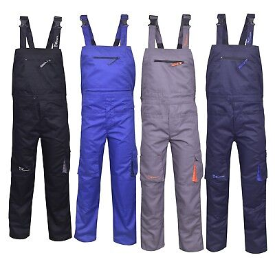 £19.99 • Buy Bib And Brace Overalls Heavy Duty Work Trousers Dungaress 4 Colours Pockets