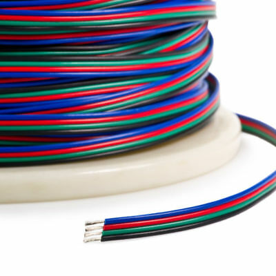 $7.99 • Buy 4-PIN RGB Extension Connector Wire Cable Cord For 3528/5050 RGB LED Strip Light