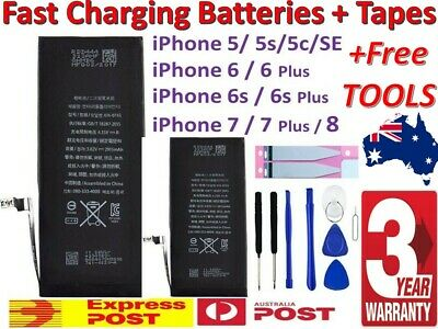 AU13.95 • Buy NEW Super IPhone Battery Replacement For Apple IPhone 8 7 6 S Plus 5S SE Plus