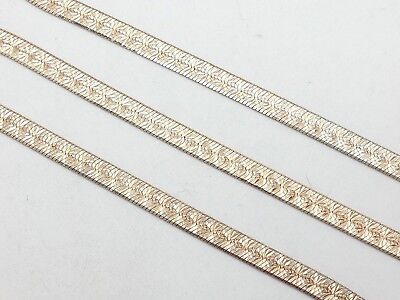 £21.23 • Buy Milor Sterling Silver 925 Gold Plated Flat 24' Inch Snake Chain Necklace Italy