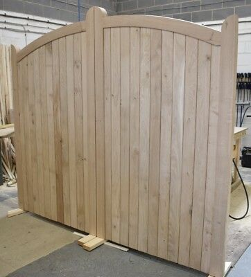 Wooden Oak Bow Top Driveway Gates Mortice & Tenoned 6ft 1800mm • 2,928£