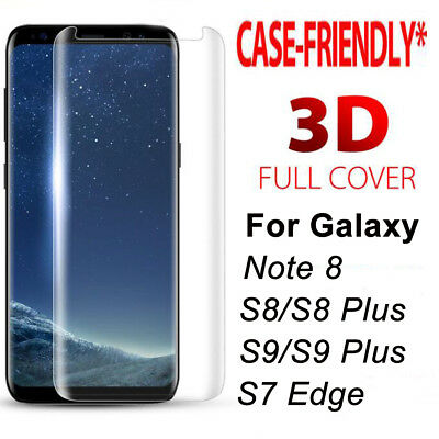 $ CDN5.05 • Buy [Case Friendly] 3D Curved Full Cover Temper Glass Screen Film Protector Guard