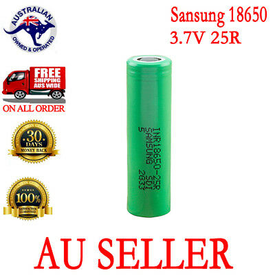 AU15.99 • Buy Samsung 18650 3.7V  Li-ion 25R High Rate Battery For Drill/Led Flashlight
