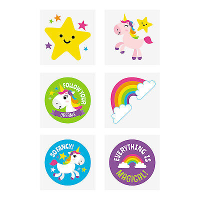 AU6.95 • Buy UNICORN PARTY Kids Temporary Tattoos Rainbow Unicorns Tattoo Pk Of 36 Free Post