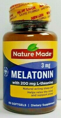 $ CDN18.78 • Buy Nature Made Melatonin 3 Mg With 200 Mg L-theanine 60 Ct -Exp Date 04-2021