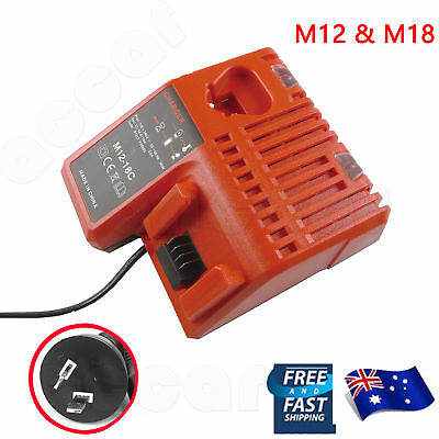AU36.59 • Buy Battery Charger For Milwaukee M18 M12 12V-18V Li-ion 48-11-1840 48-59-1812 AU