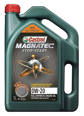AU57.95 • Buy Castrol MAGNATEC 0W-20 Stop-Start Full Synthetic Engine Oil 5L 3414099
