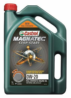 AU60.95 • Buy Castrol MAGNATEC 0W-20 Stop-Start Full Synthetic Engine Oil 5L 3414099