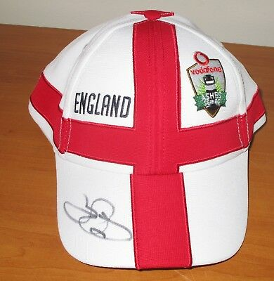 Alastair Cook (England) Signed Official England Ashes Cap  (White) + COA • 110.50£
